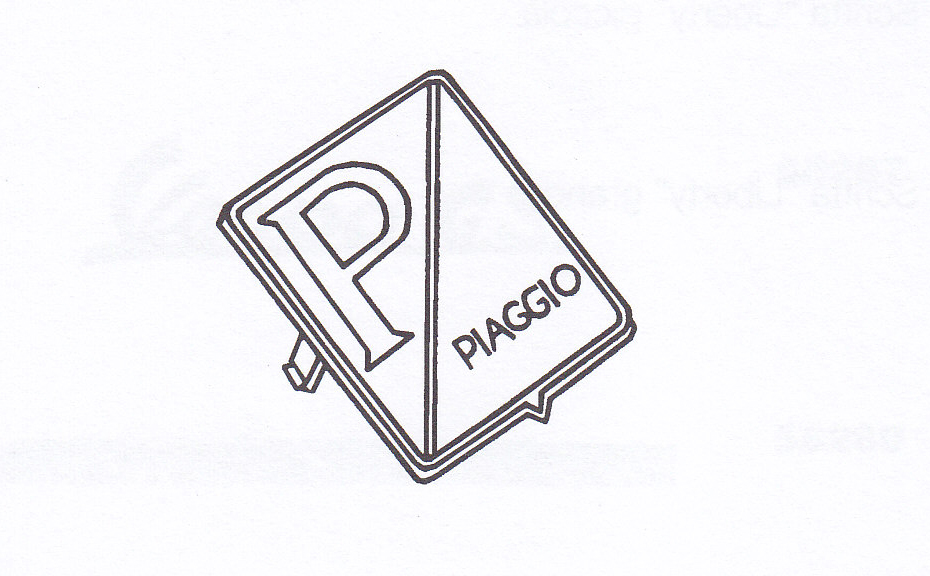 Targhetta per frontale Vespa PX 125-150 freno a disco