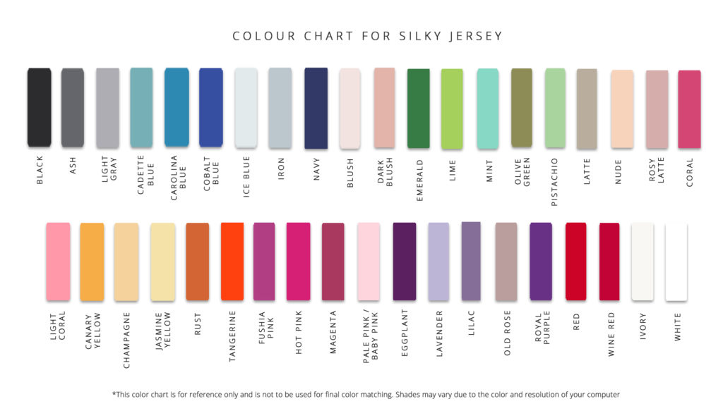 FOR SILKY JERSEY