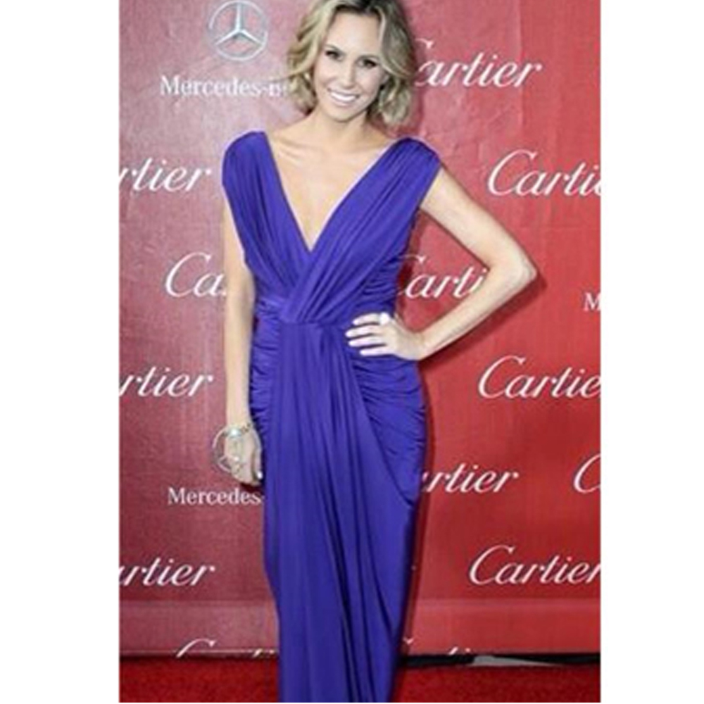 OMG correspondent keltie knight wearing our ingrid dress at the red carpet of 65th primetime emmy awards