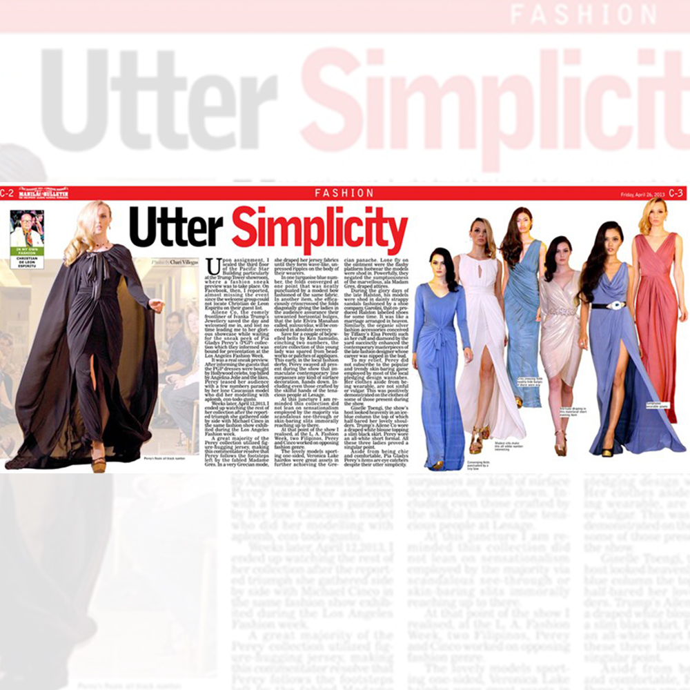 Utter Simplicity manila bulletin feature