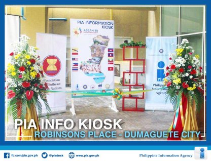 The PIA Information Kiosk at Robinson's Place Dumaguete before the ribbon cutting ceremony