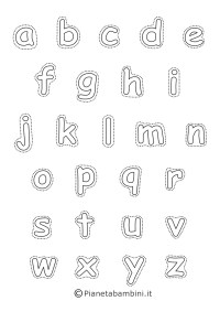 Lettere dell'Alfabeto da Stampare, Colorare e Ritagliare ...