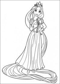 32 Disegni da Colorare di Rapunzel | PianetaBambini.it