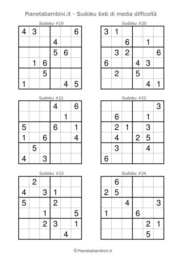 Schemi Sudoku