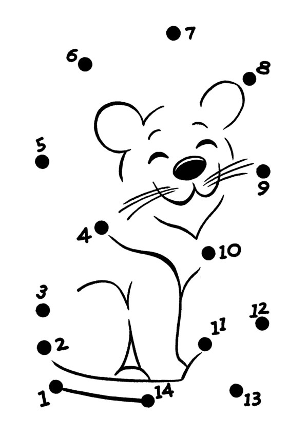 Unisci i Puntini Facili da 1 a 10 e da 1 a 20 da Stampare