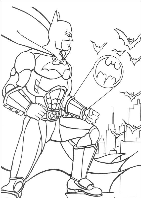 42 Disegni di Batman da Stampare e Colorare