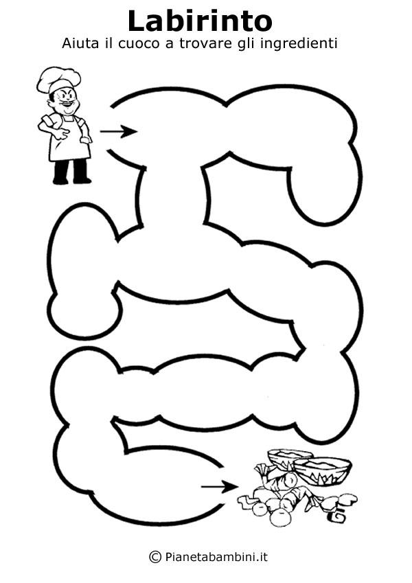Basilare labirinto da stampare per bambini Labirinti per