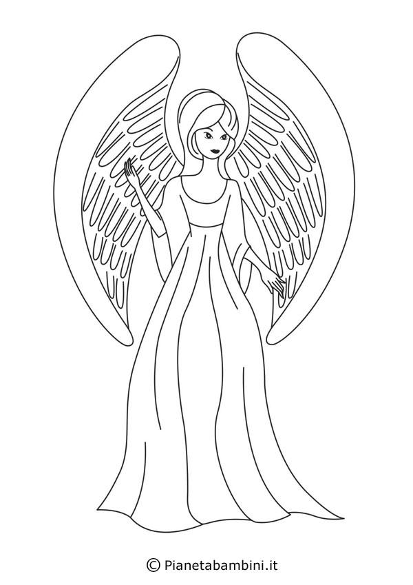 18 Disegni di Angeli da Colorare  PianetaBambiniit