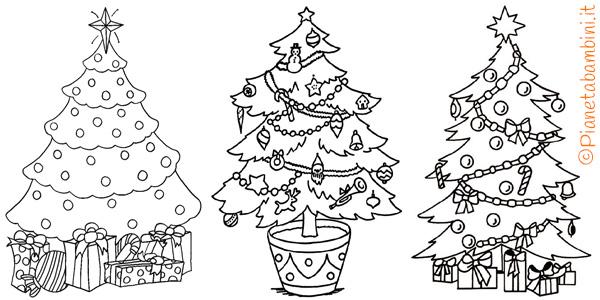 Una bellissima raccolta di immagini natalizie da colorare e stampare e colorare con i vostri bambini, potete fotocopiarle e divertirvi. 21 Disegni Dell Albero Di Natale Da Colorare Pianetabambini It