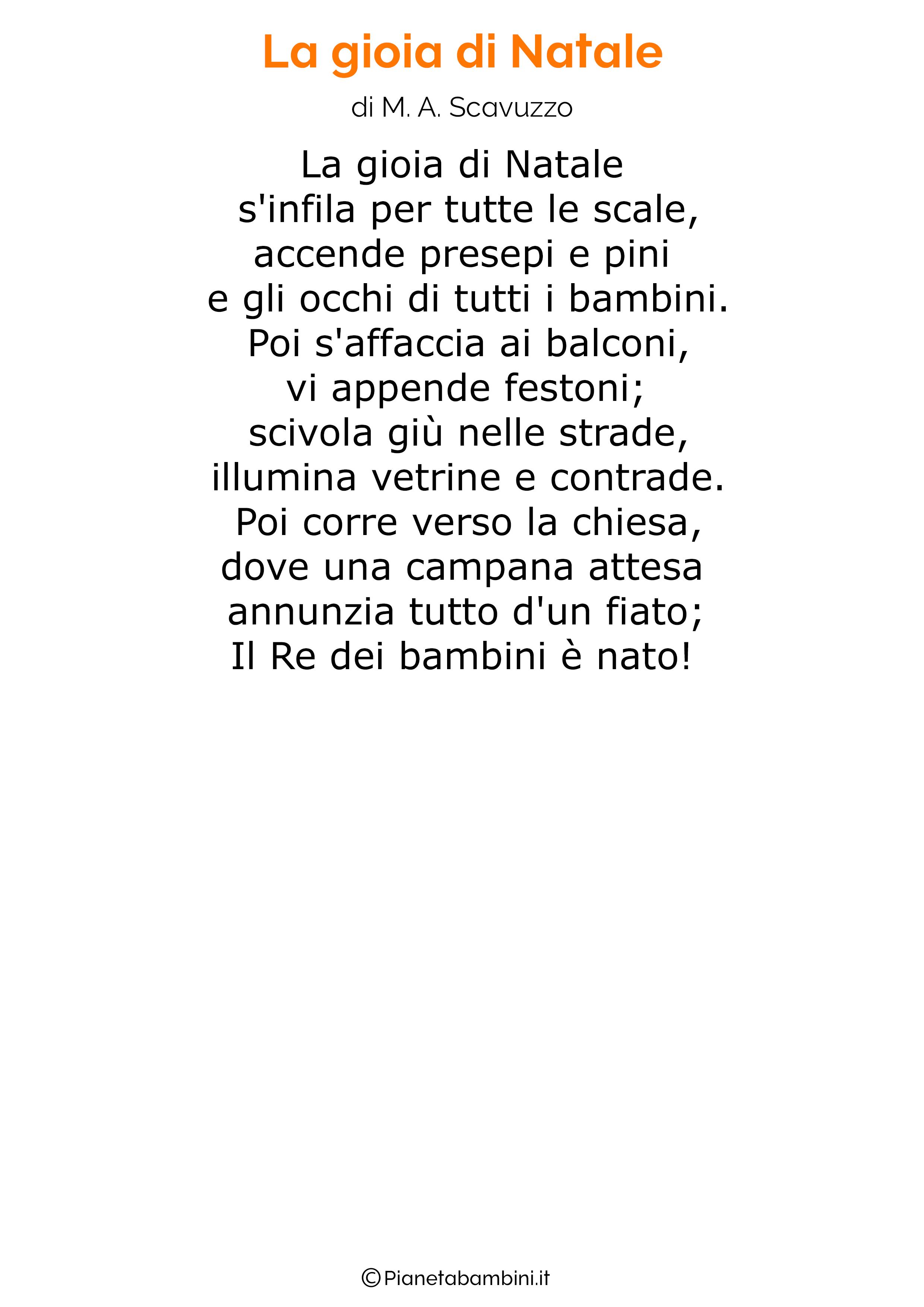 Piccola poesia composta dalla maestra annagrazia un natale 2020 davvero speciale  45 Poesie Di Natale Per Bambini Pianetabambini It