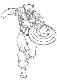 54 Disegni da Colorare di Capitan America | PianetaBambini ...