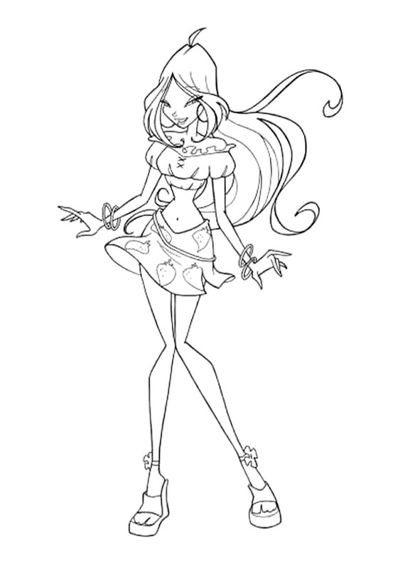 Winx Club Bloom Coloring Page Auto Electrical Wiring Diagram