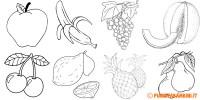Disegni di Frutta da Stampare e Colorare | PianetaBambini.it