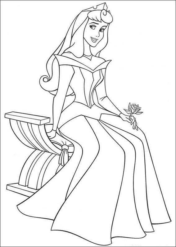 33 Disegni della Principessa Aurora da Colorare