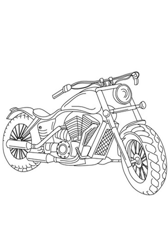Disegni Da Colorare Di Moto