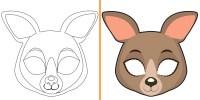 Maschere di Animali da Colorare e Costruire per Bambini