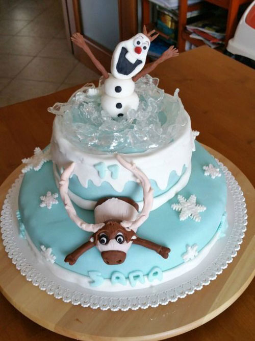 99 Torte di Frozen in Pasta di Zucchero per Compleanni
