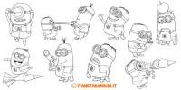 30 Disegni dei Minions da Colorare | PianetaBambini.it