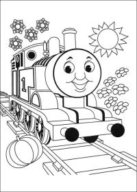 Disegni di Trenino Thomas da Colorare | PianetaBambini.it