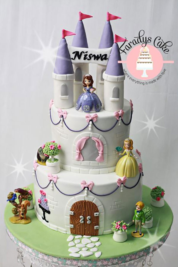 70 Torte di Sofia La Principessa in Pasta di Zucchero