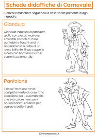Colombina Gianduia Colorare Arlecchino Disegno - CLM ...