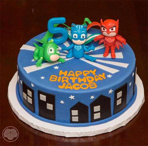 35 Torte dei PJ Masks Super Pigiamini in Pasta di Zucchero