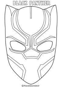 Maschera Black Panther Da Colorare Maschere Da Colorare Black