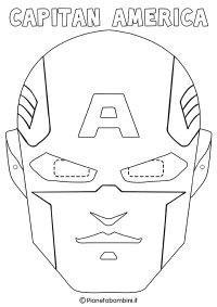 Maschere di Supereroi da Colorare per Bambini ...