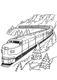 45 Disegni di Treni da Colorare