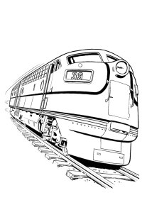 45 Disegni di Treni da Colorare | PianetaBambini.it
