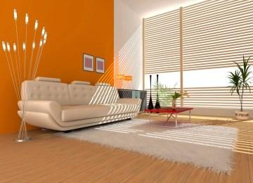 Pareti Colore Arancione : Soggiorno parete arancione porta tv grande king parete soggiorno