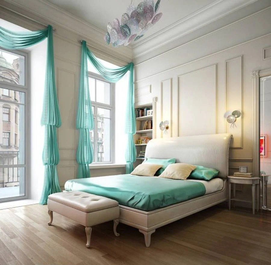Camera Da Letto Verde Tiffany Arredare Casa Con Il Color Acquamarina