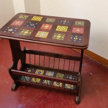 Comodino tavolino con doppio piano