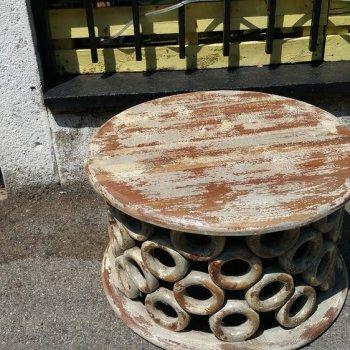 tavolino grigio shabby
