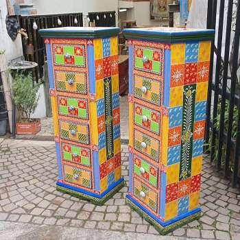 cassettiera multicolore
