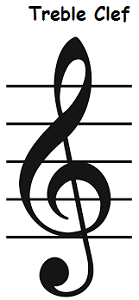 Easy To Draw Music Notes : music, notes, Treble, Clef,, Staff,, Notes,
