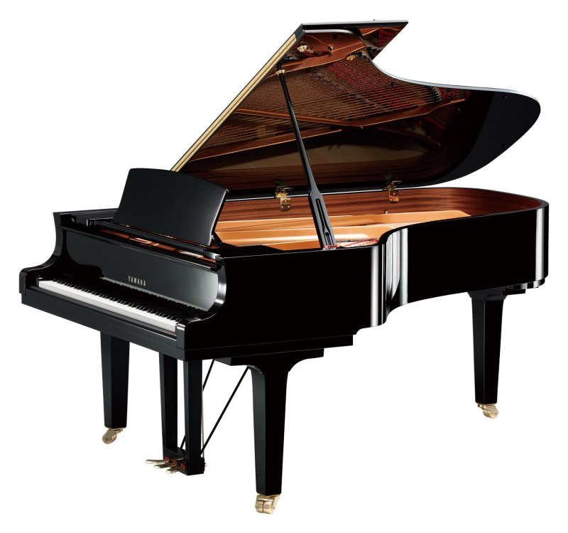 The Yamaha C7X Concert Grand - Angle View