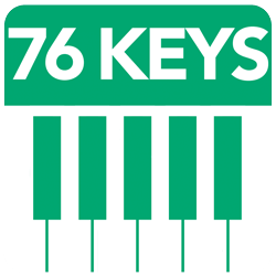 76 Full Size Piano Keys