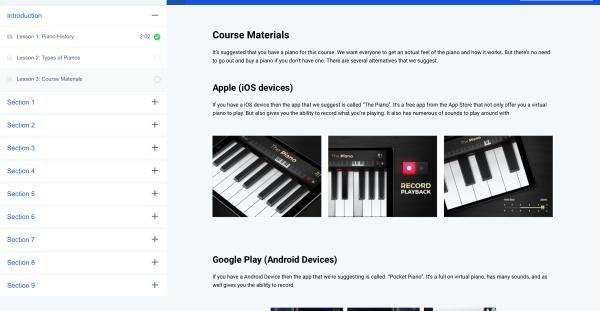 Alternatives to a piano
