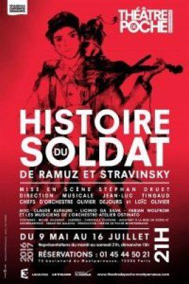 Histoire du soldat, Ramuz et Stravinsky, Théâtre de Poche-Montparnasse, revue de presse Pianopanier