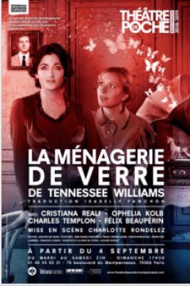 La Menagerie de Verre Poche Montparnasse Mise en scène Charlotte Rondelez
