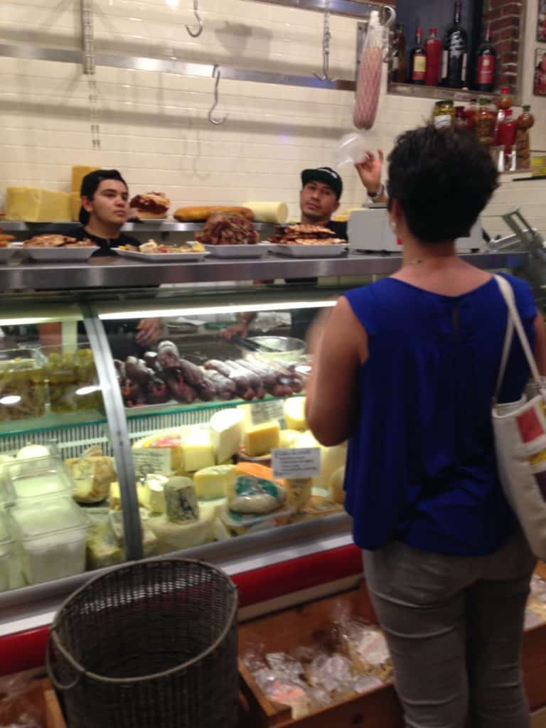 I was so excited to make some purchases at an authentic Italian deli!