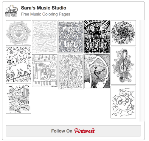Sara's Pinterest Music Coloring Pages Board