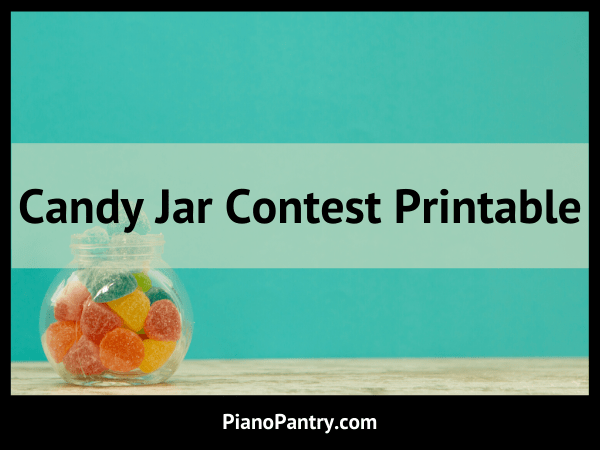 Candy Jar Contest Printable Blog Post