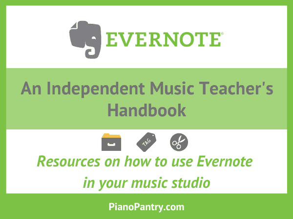 Evernote Resources on Piano Pantry