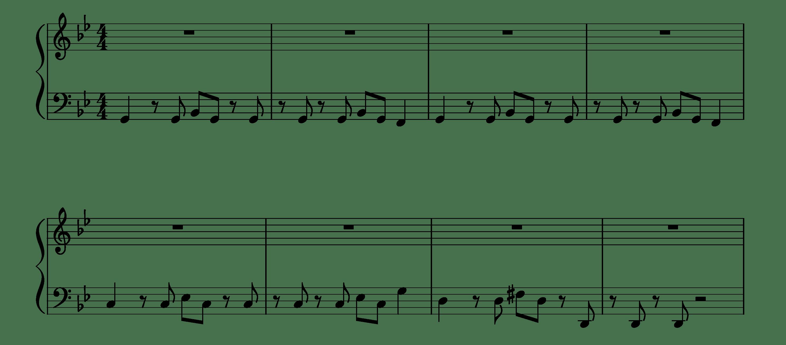 Bad Guy Piano Sheet Music - Intro - Easy Version