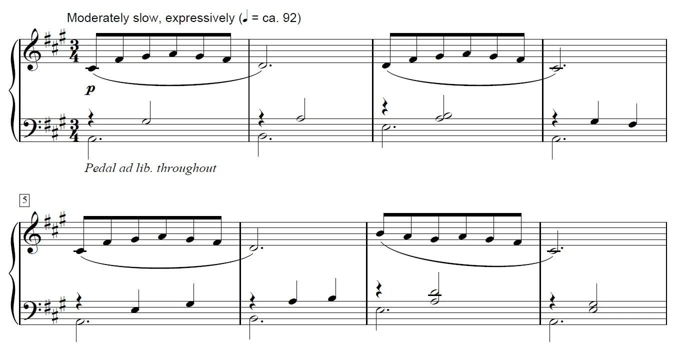 La La land Piano Sheet Music Example