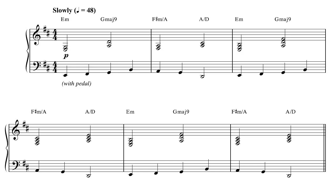 Sweden Piano Sheet Music - Example