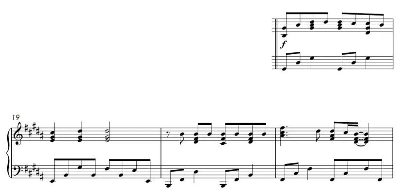 Be Alright Piano Sheet Music - Verse - Hard Version