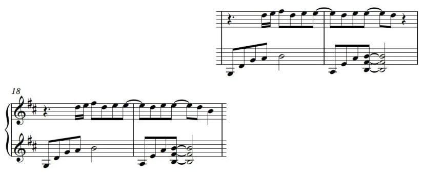 Euphoria Piano Sheet Music - Verse - Hard Version (Left Hand Variation)